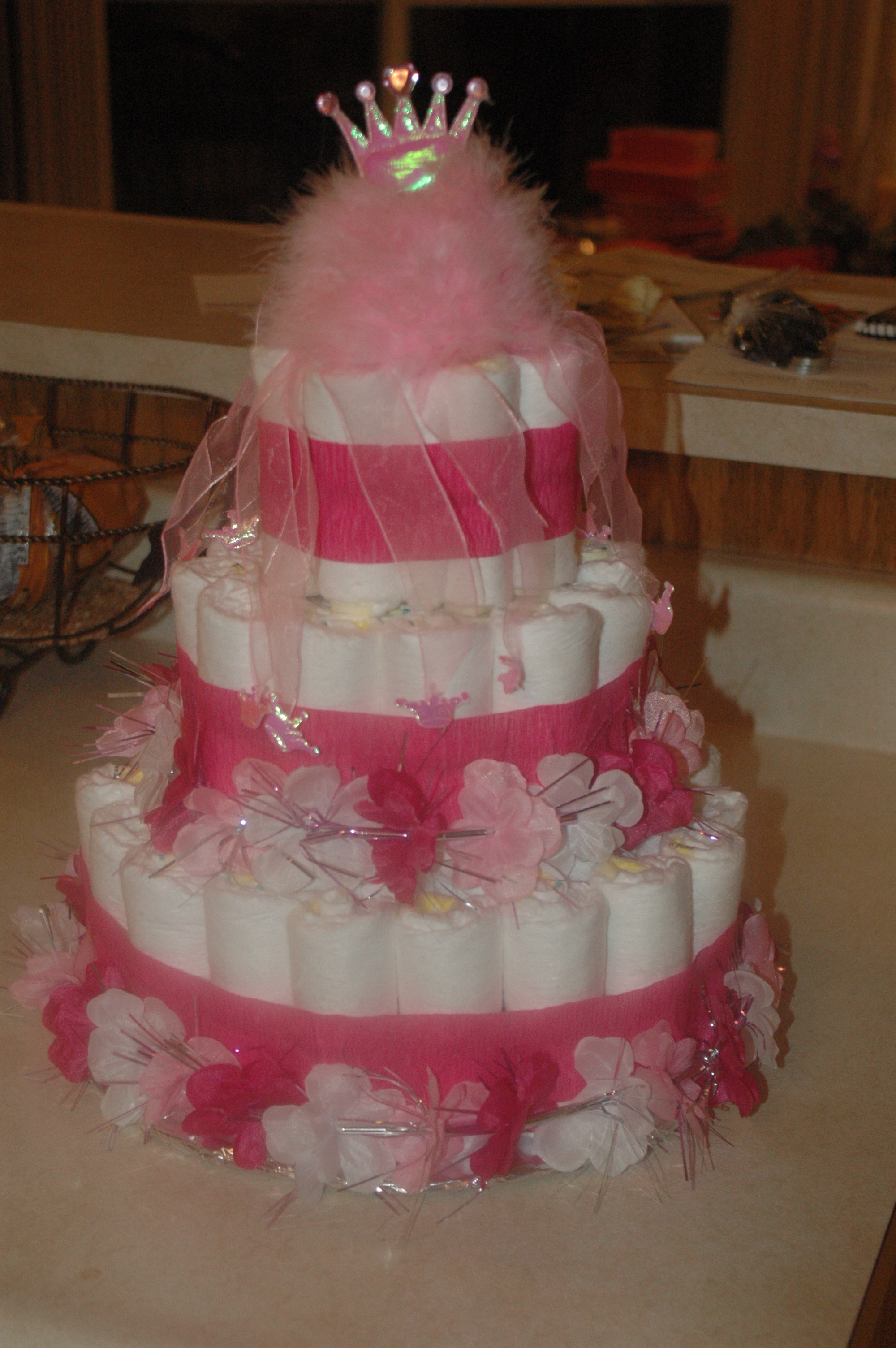 Baby Diaper Cake For The Stunning Baby Shower Centerpiece